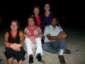 Après le restaurant, détente sur la plage de Miami Beach